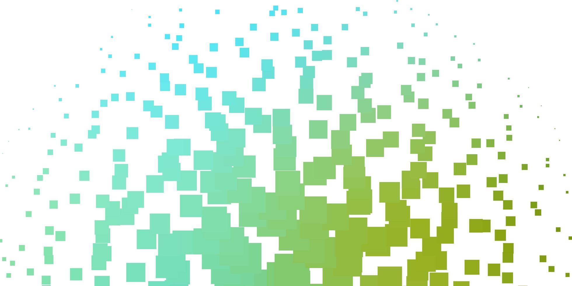 hellblaues, grünes Vektormuster im quadratischen Stil. vektor
