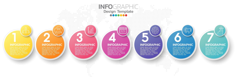 infografiska element för innehåll, diagram, flödesschema, steg, delar, tidslinje, arbetsflöde, diagram. vektor
