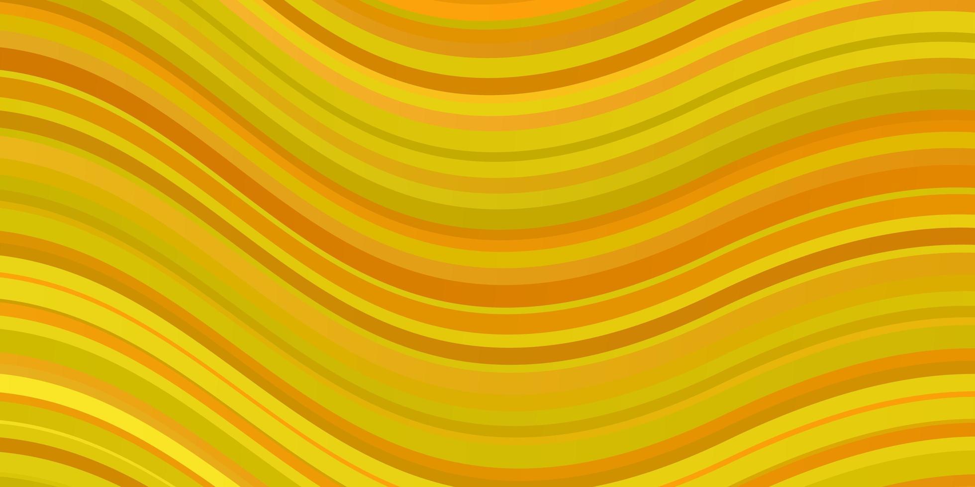 hellgelbe Vektorschablone mit schiefen Linien. vektor