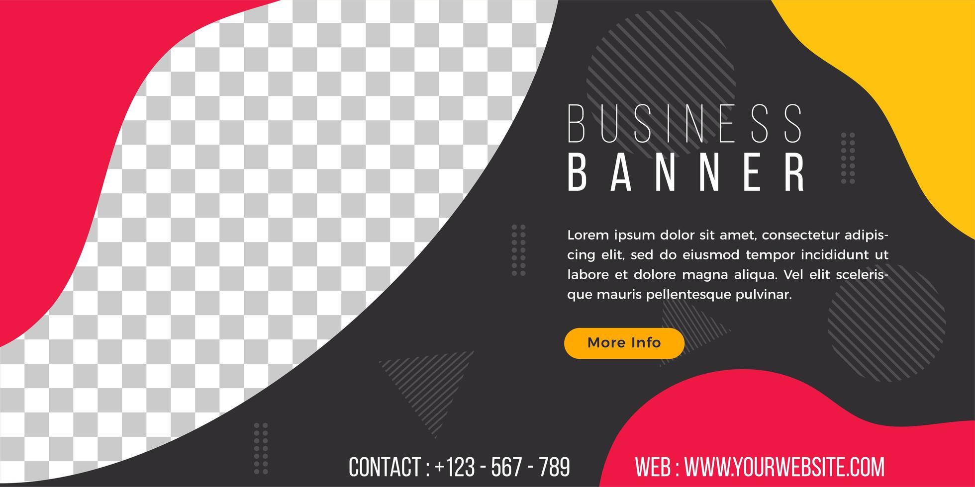 business banner mall enkel flytande geometrisk stil vektor