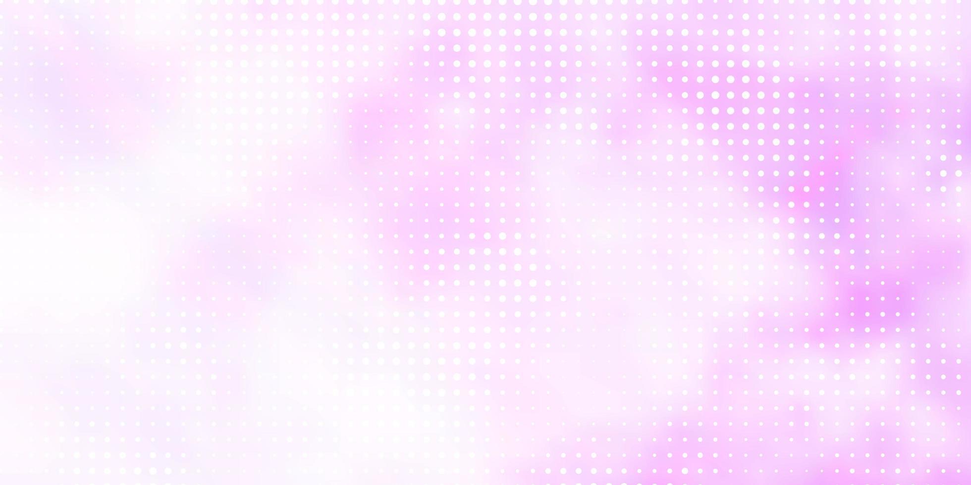 hellviolette Vektorschablone mit Kreisen. vektor