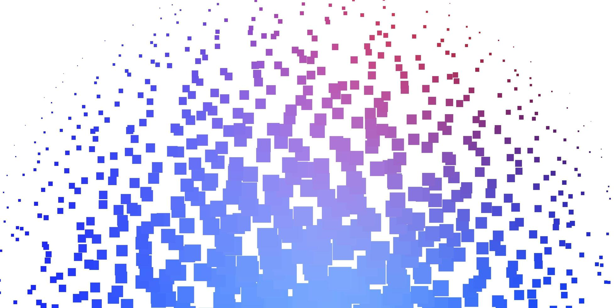 ljusblå, röd vektorbakgrund med rektanglar. vektor