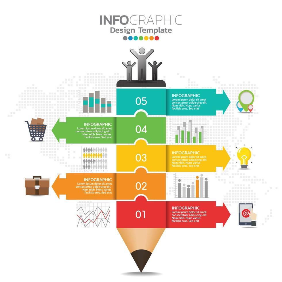 infographic koncept illustration av seo infographics med affärslayoutmall. vektor