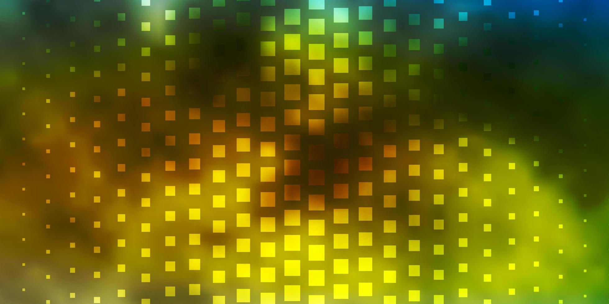 ljusblått, gult vektormönster i fyrkantig stil. vektor