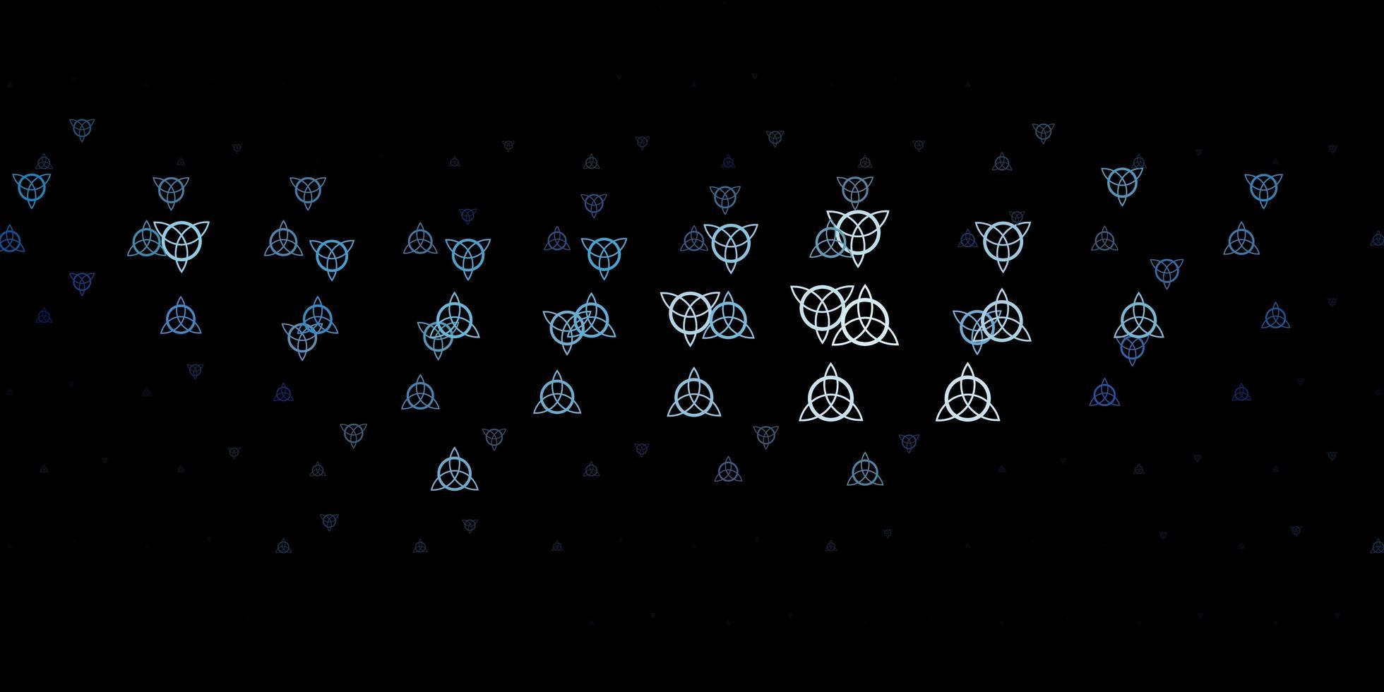 dunkelblaues Vektormuster mit magischen Elementen. vektor