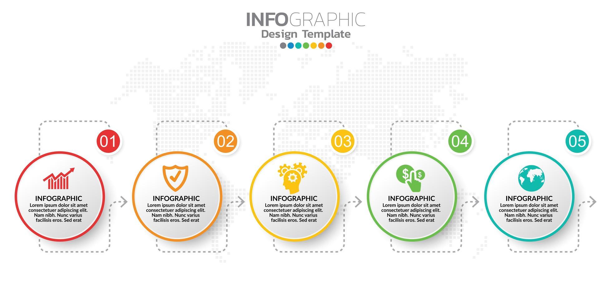 digital online marknadsföringsbanner med ikoner för affärsinnehåll. vektor