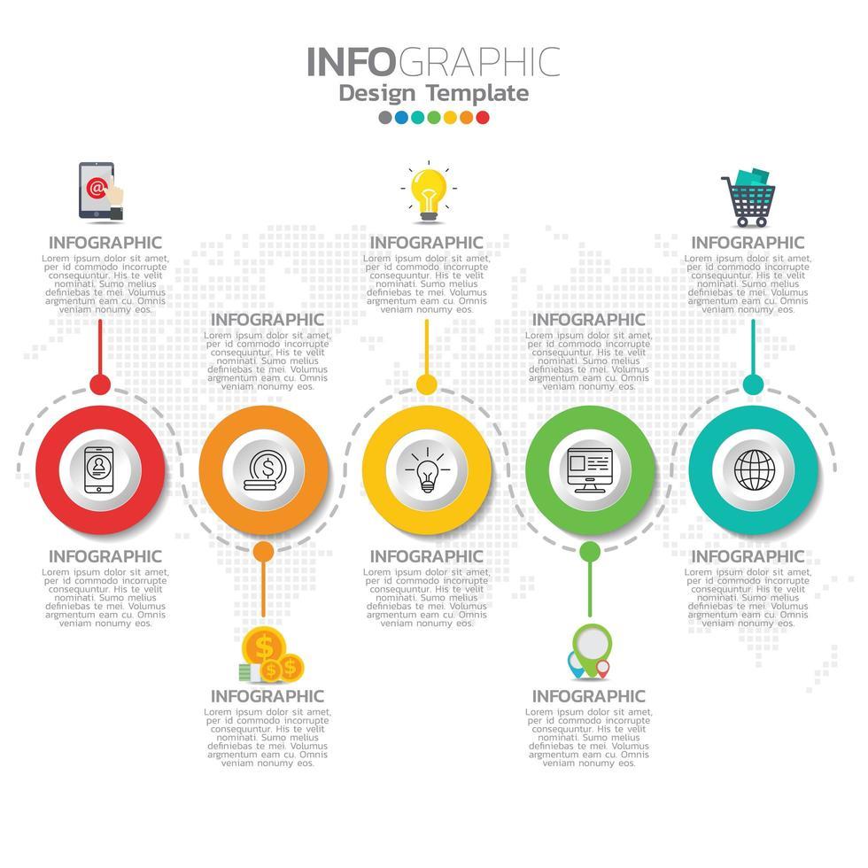 Infografik Konzept Illustration von SEO Infografiken mit Business Layout Vorlage. vektor