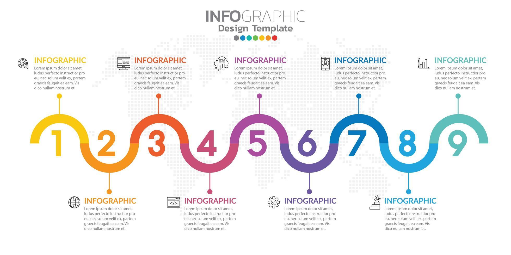 infographics för affärsidé med ikoner och alternativ eller steg. vektor