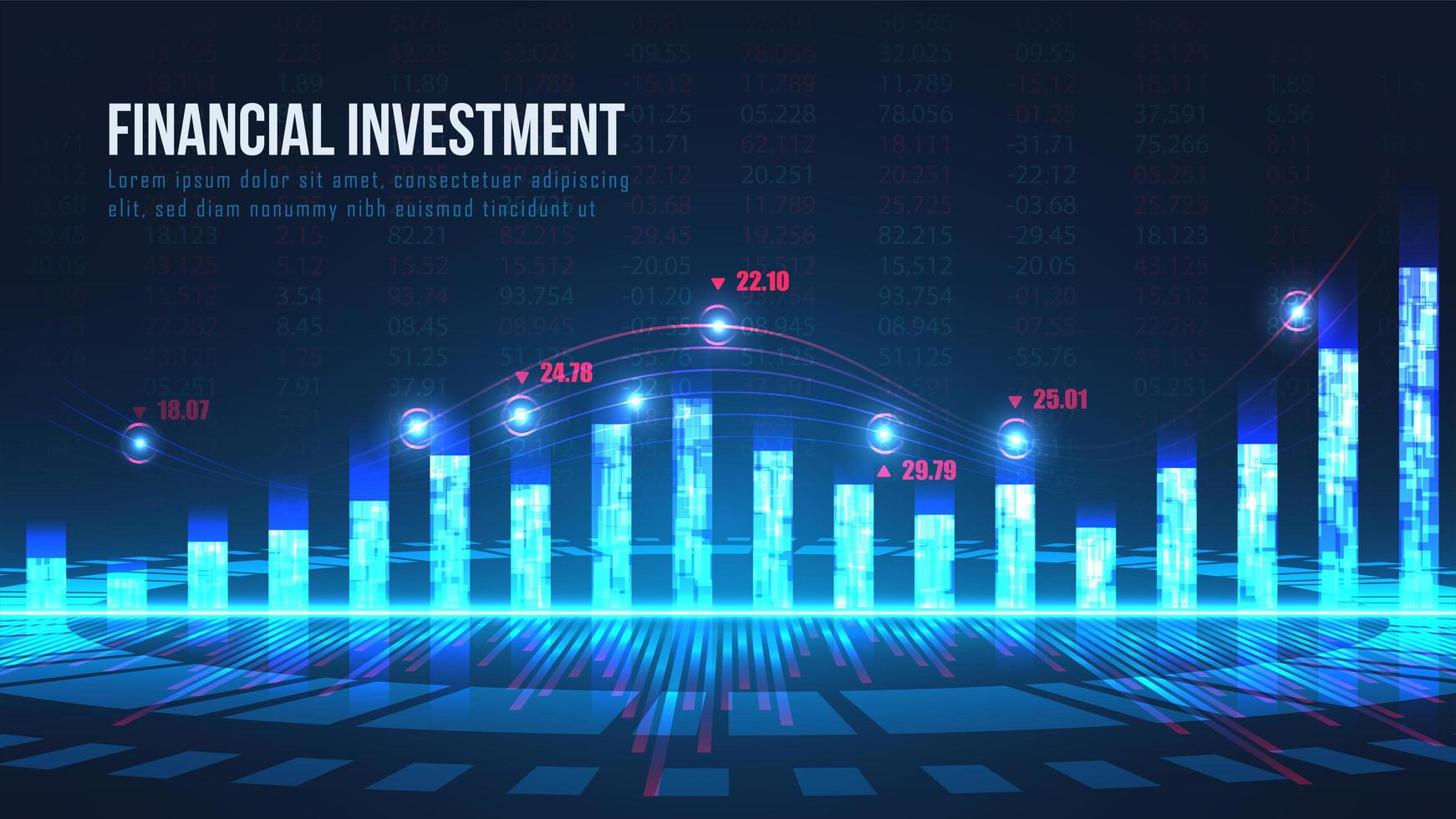 aktiemarknadsindikatorer grafiskt koncept vektor