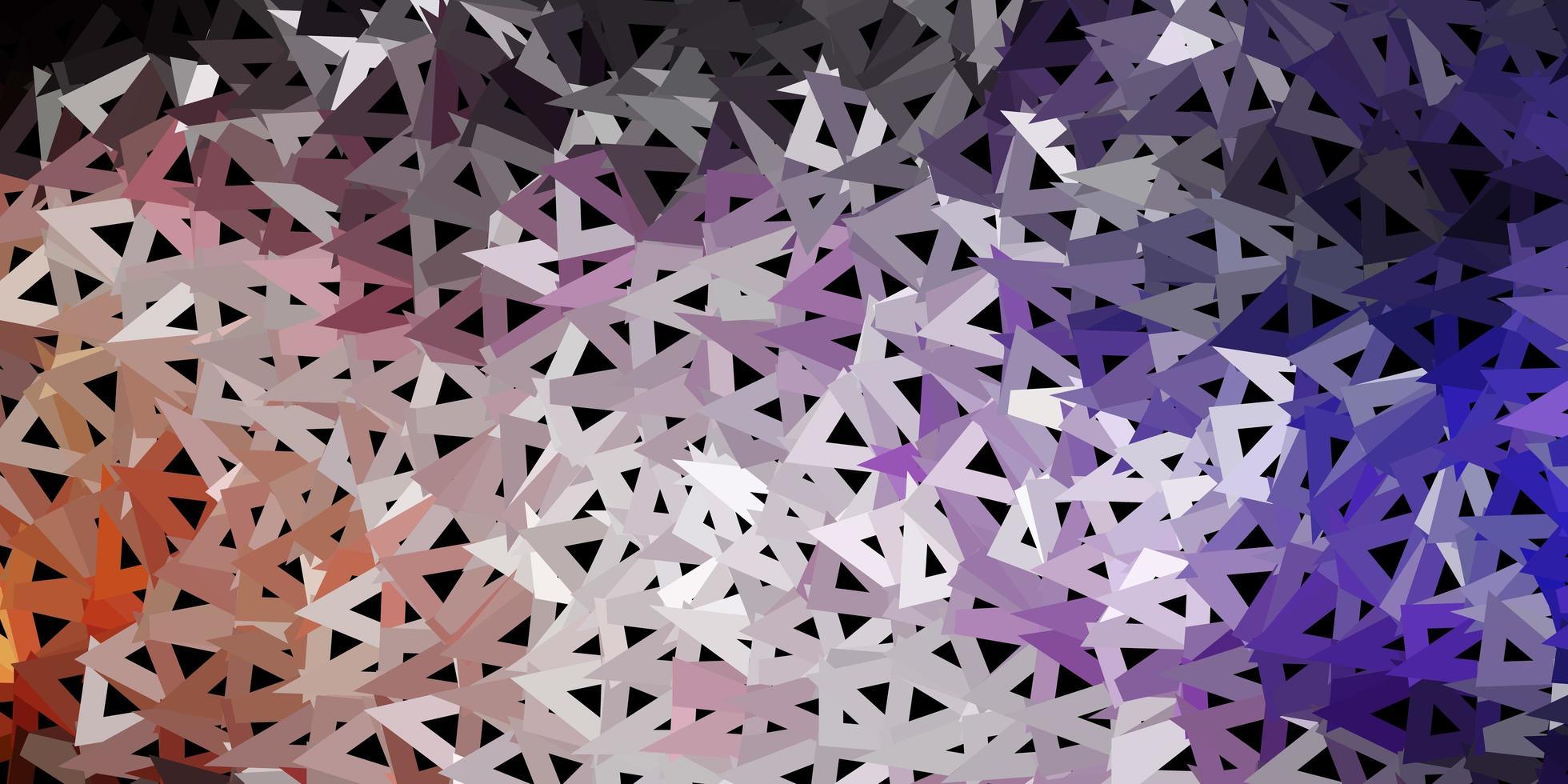 mörkrosa, gul vektor abstrakt triangel bakgrund.