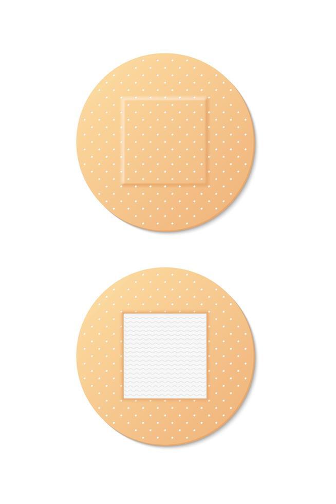 vektor uppsättning runda medicinska bandage bilder