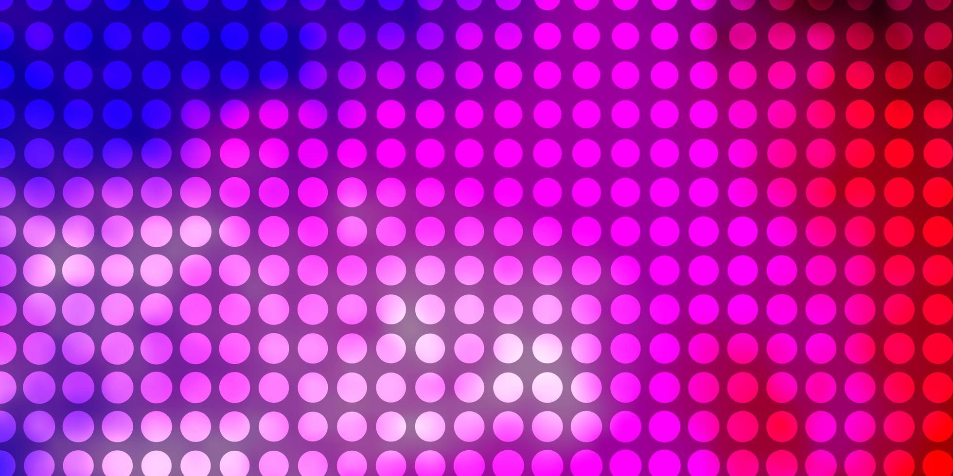 ljusrosa, blå vektormönster med cirklar. vektor