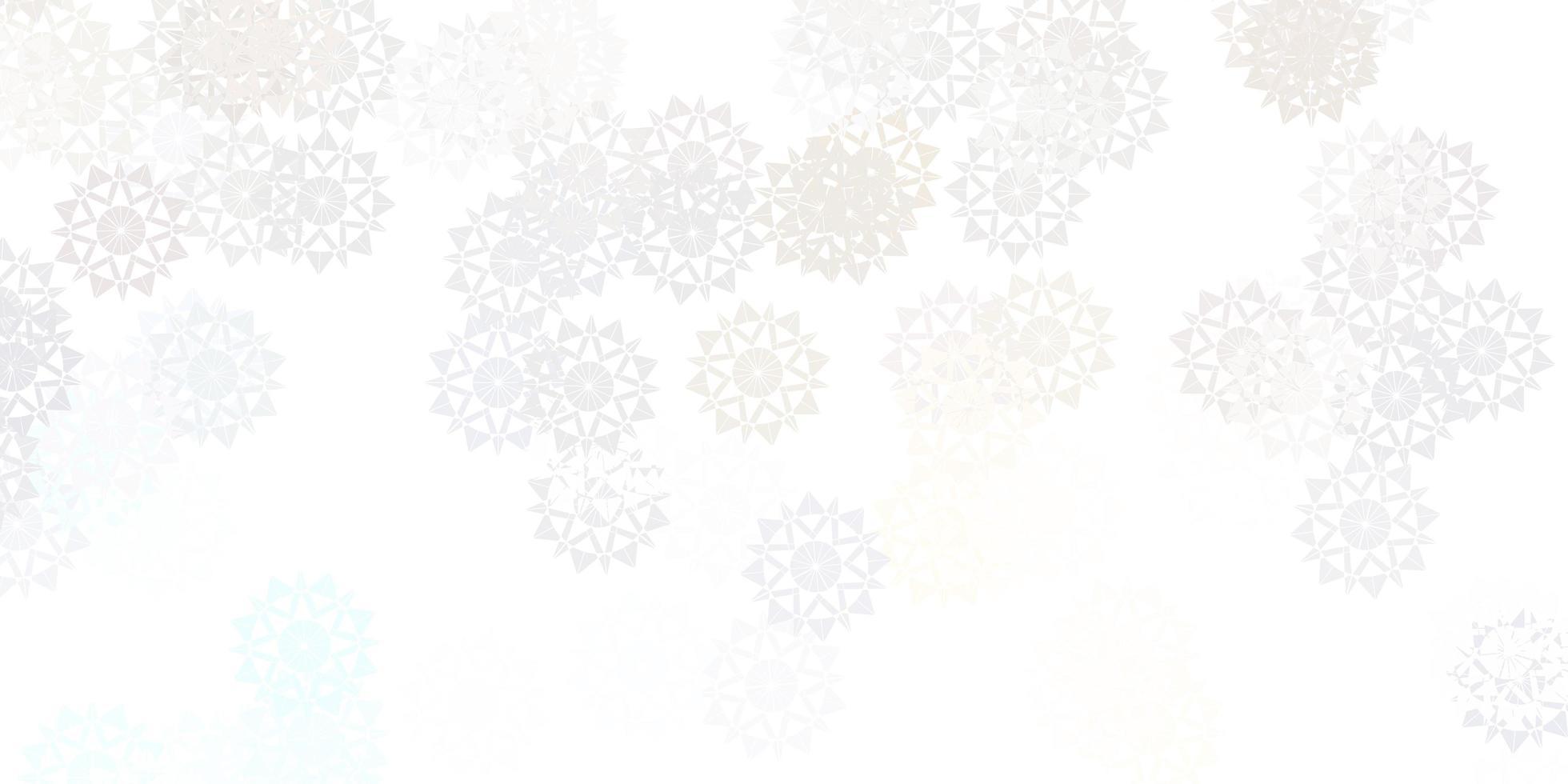 hellpurpurne Vektor schöne Schneeflocken Hintergrund mit Blumen.