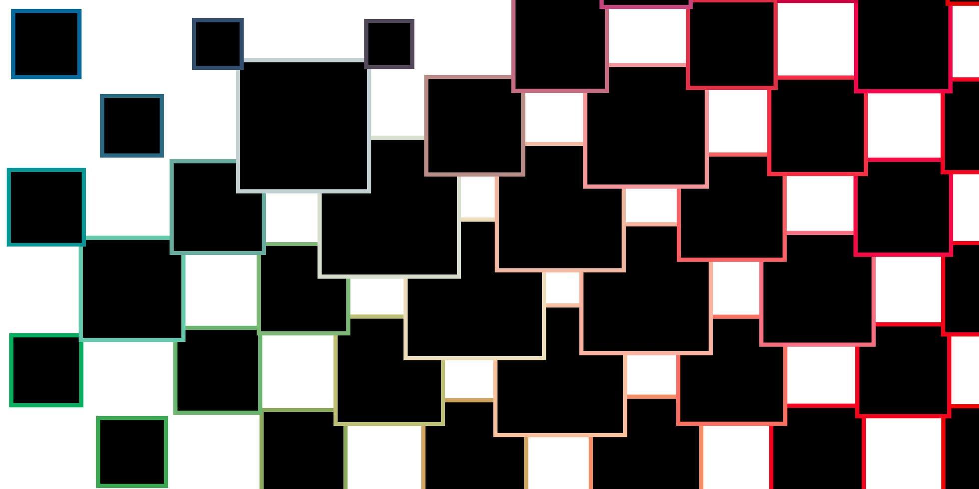 hellgrünes, rotes Vektormuster im quadratischen Stil. vektor