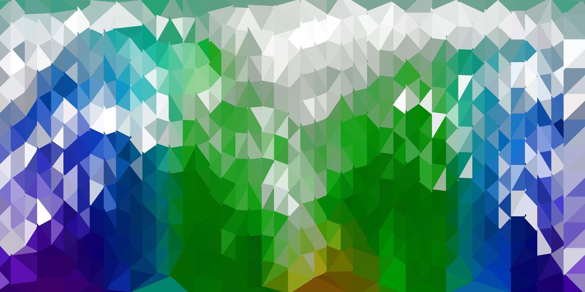 dunkelblaue, grüne Vektor abstrakte Dreiecksschablone.
