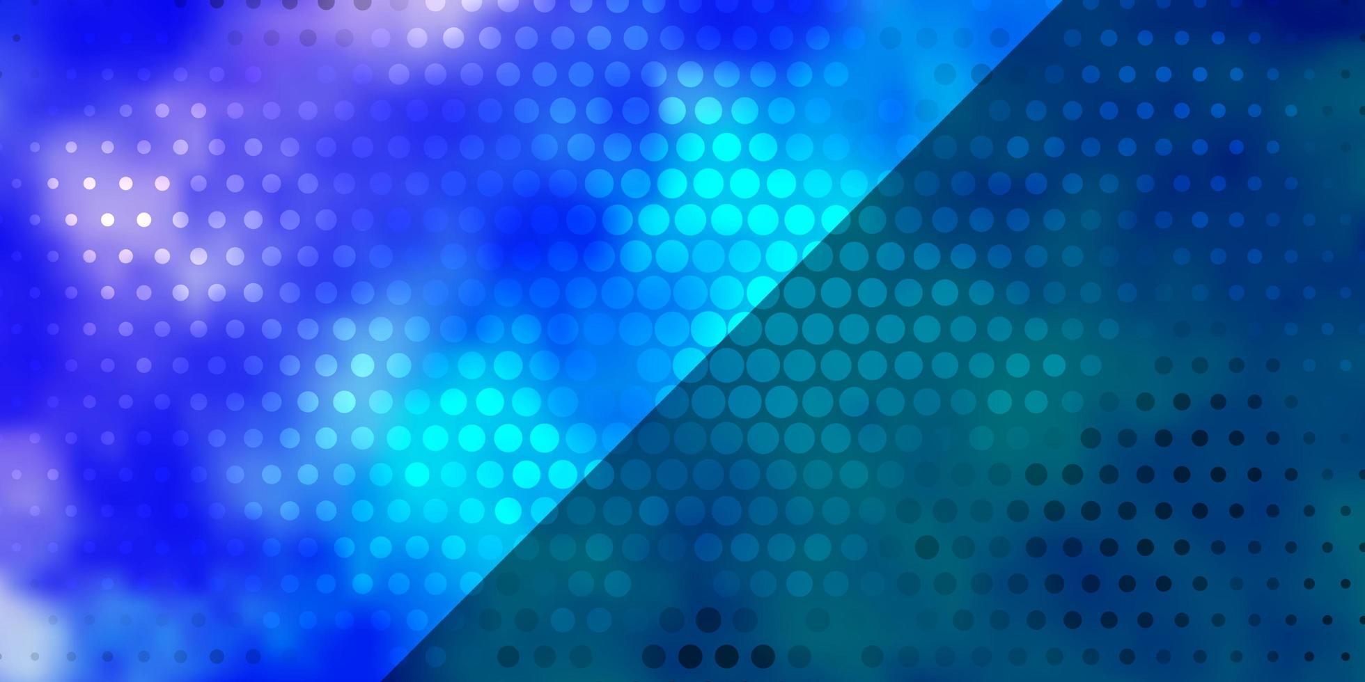 hellrosa, blaues Vektormuster mit Kreisen. vektor