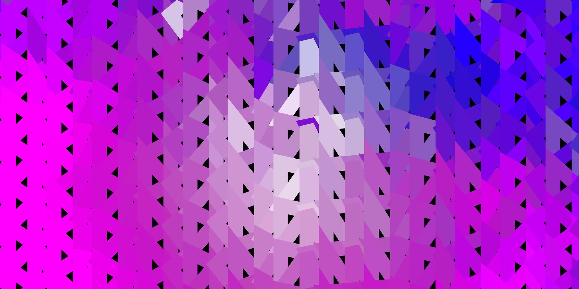 hellviolette, rosa Vektor abstrakte Dreiecksschablone.