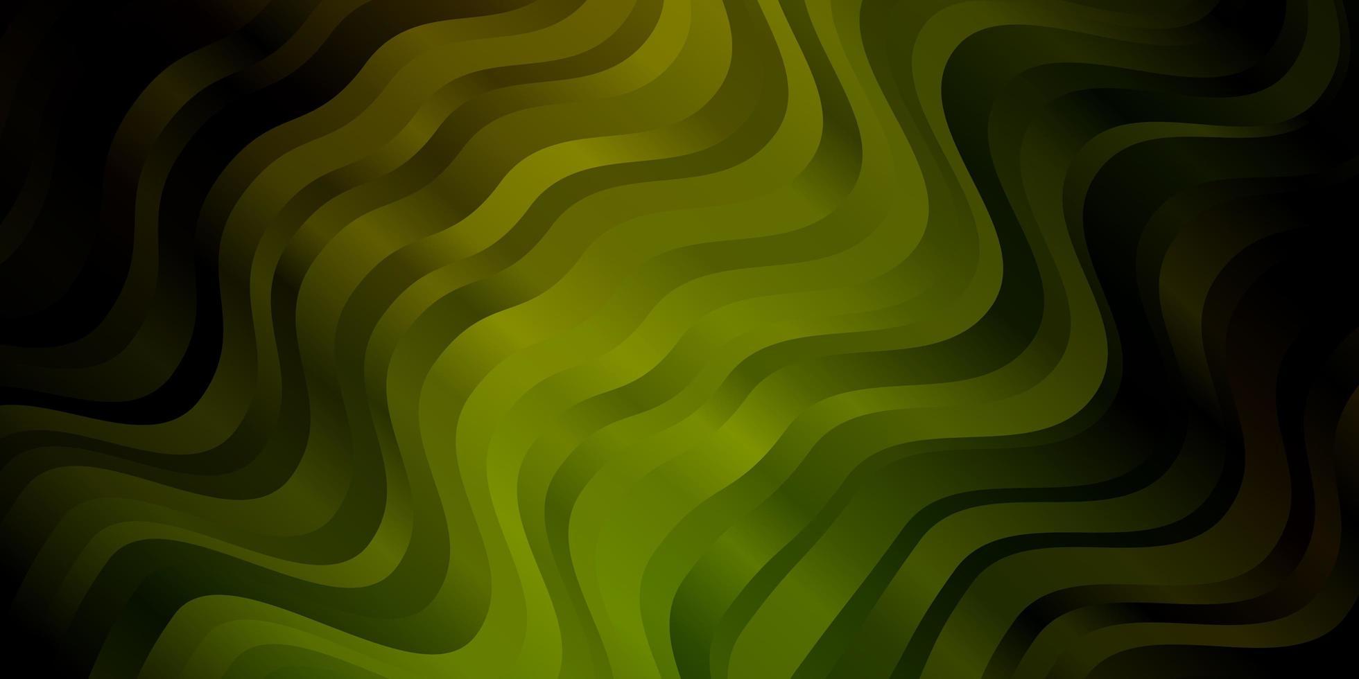 mörkgrön vektormall med böjda linjer. vektor