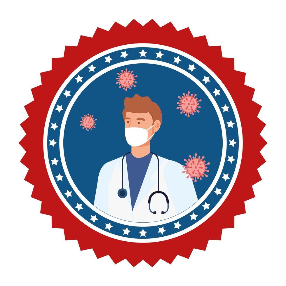koronavirusförebyggande kampanjemblem vektor