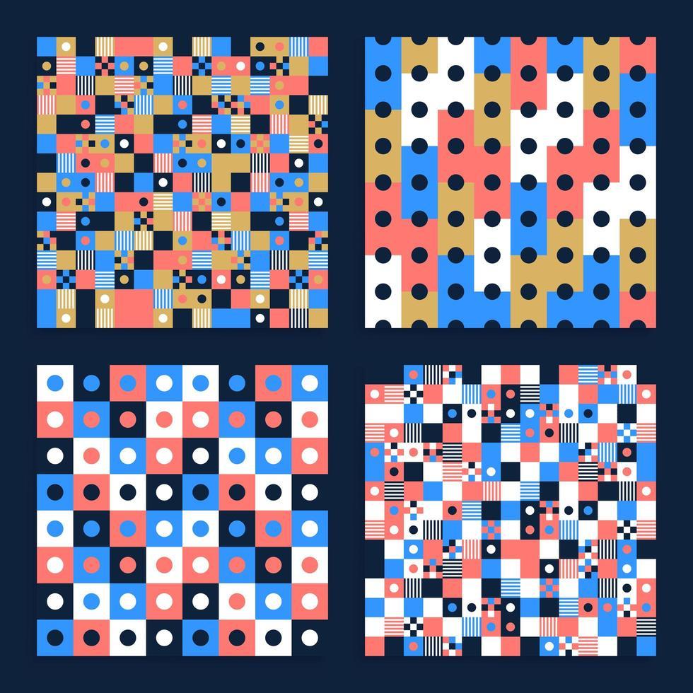 abstrakt bakgrund sömlös vektor mönsteruppsättning