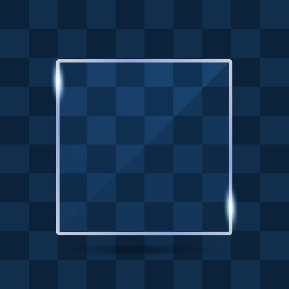transparent glas banner med reflektion vektor