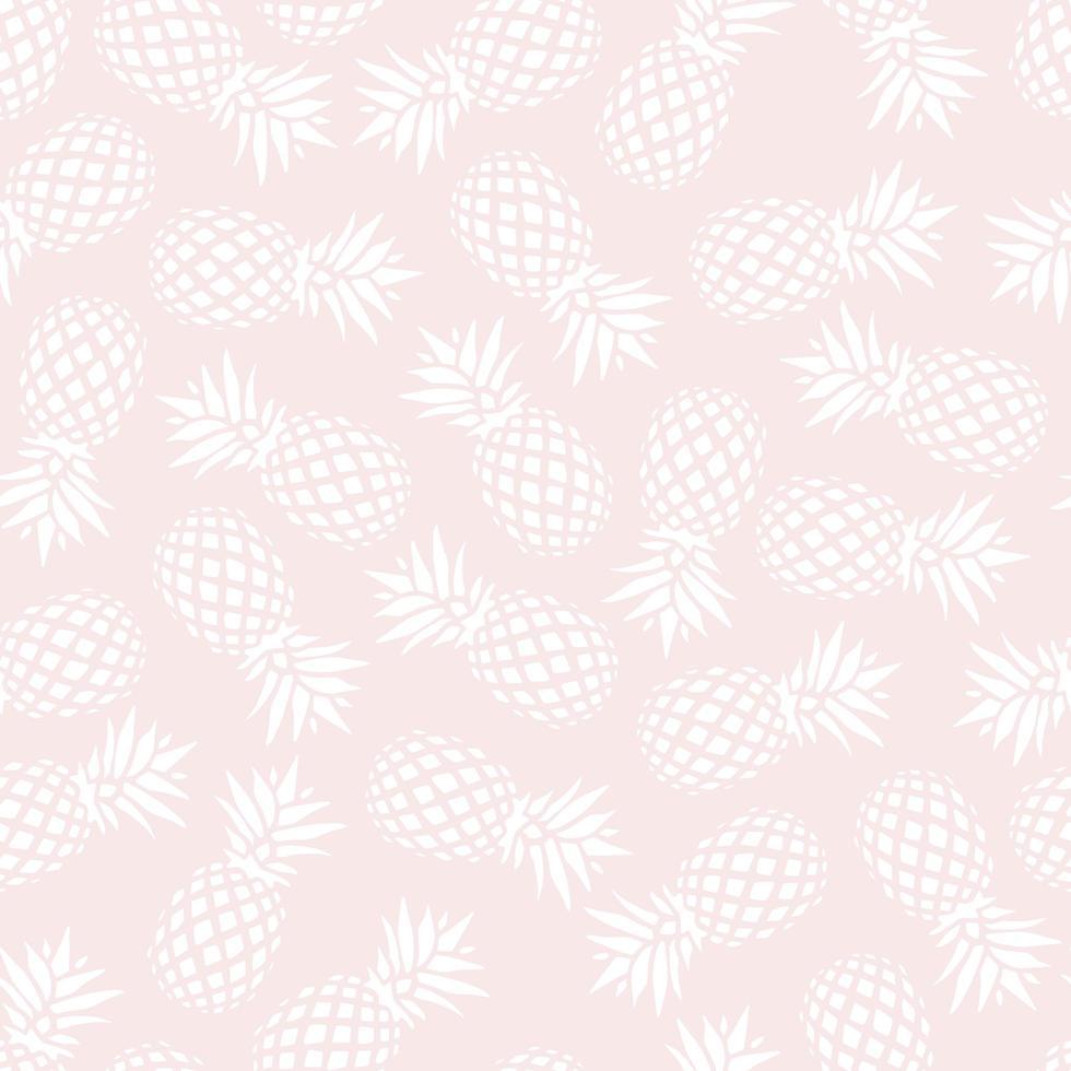 ananas sömlösa mönster på rosa bakgrund, vektorillustration vektor