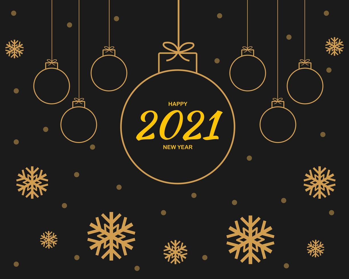 gott nytt år 2021 bakgrundsvektor vektor