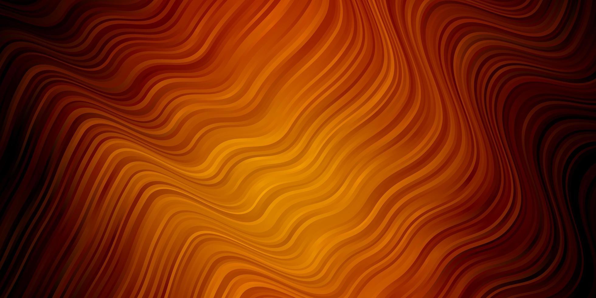 dunkelorange Vektorschablone mit Linien. vektor