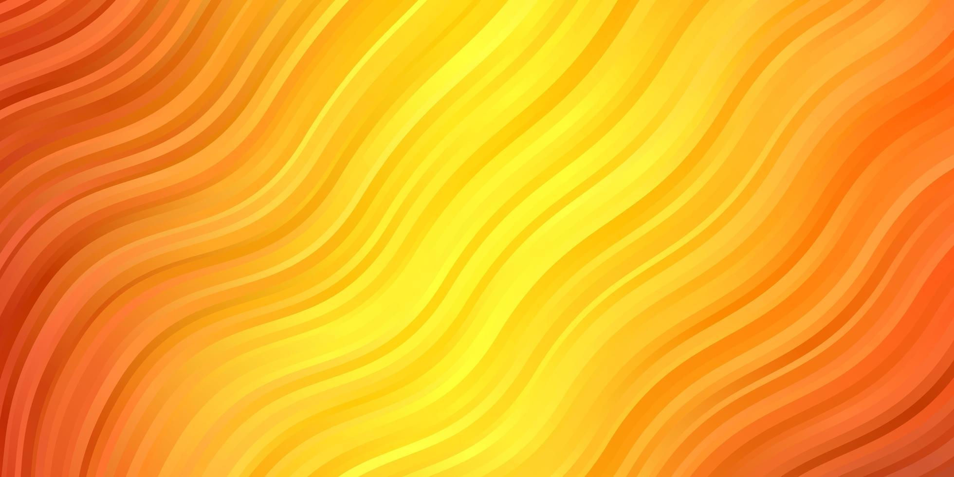 mörk orange vektor mönster med kurvor.