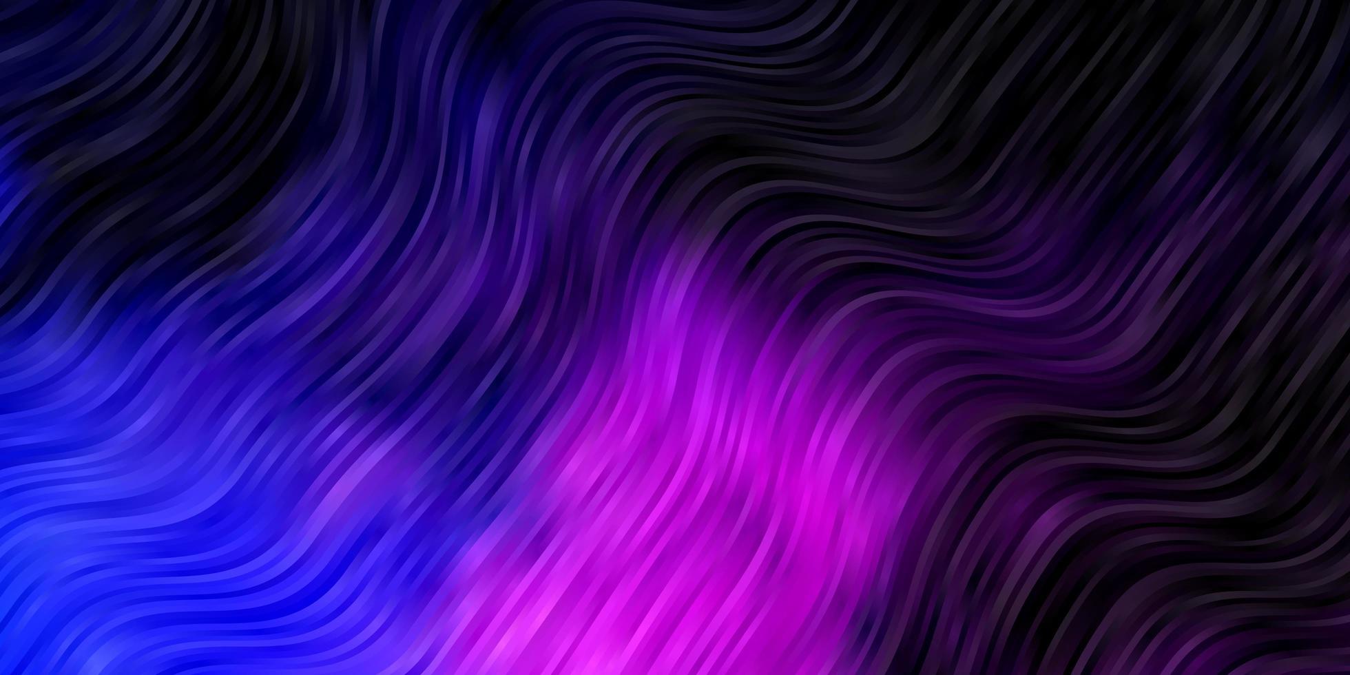 dunkelrosa, blauer Vektorhintergrund mit Linien. vektor