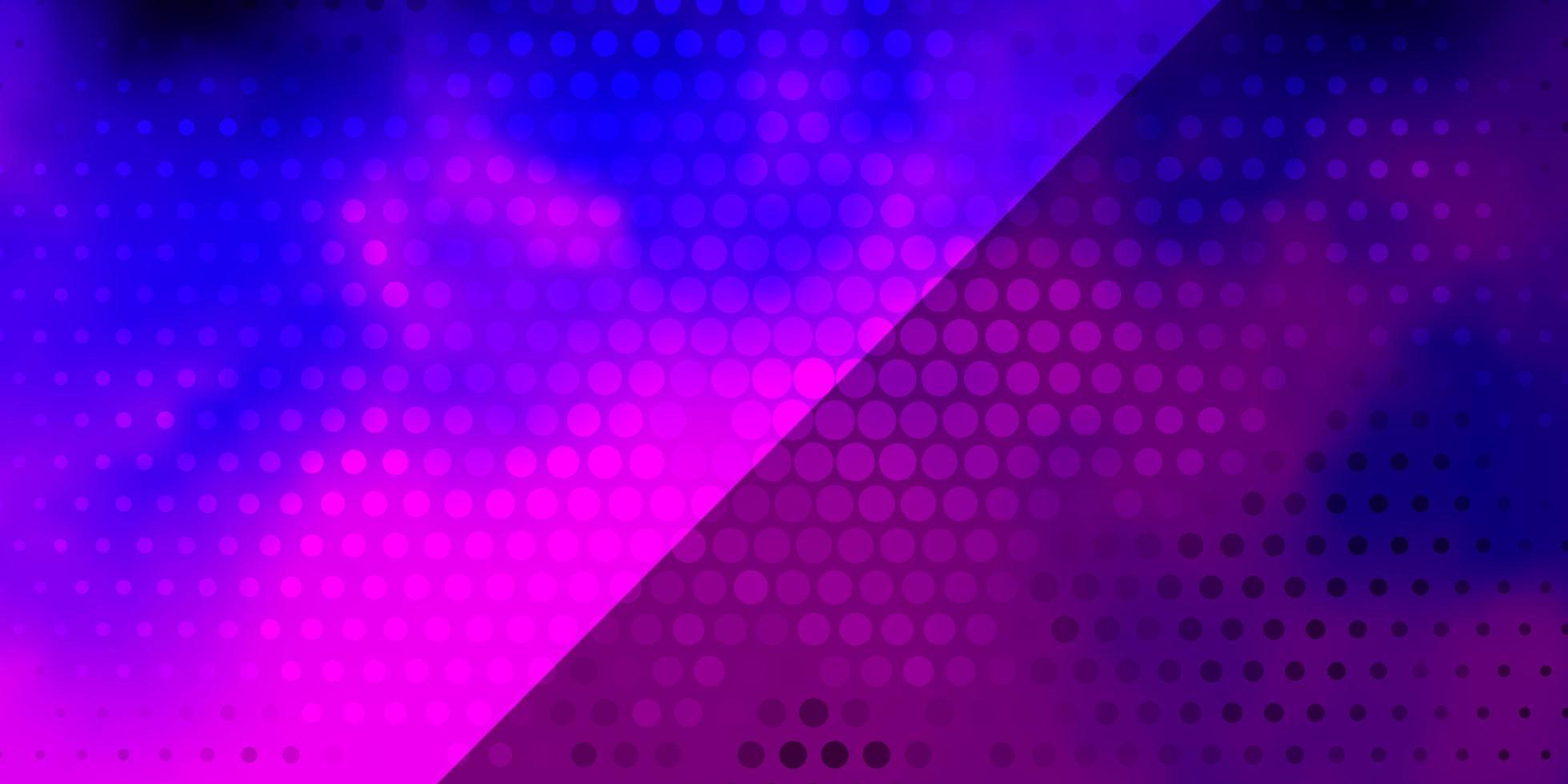 hellviolettes, rosa Vektorlayout mit Kreisen. vektor