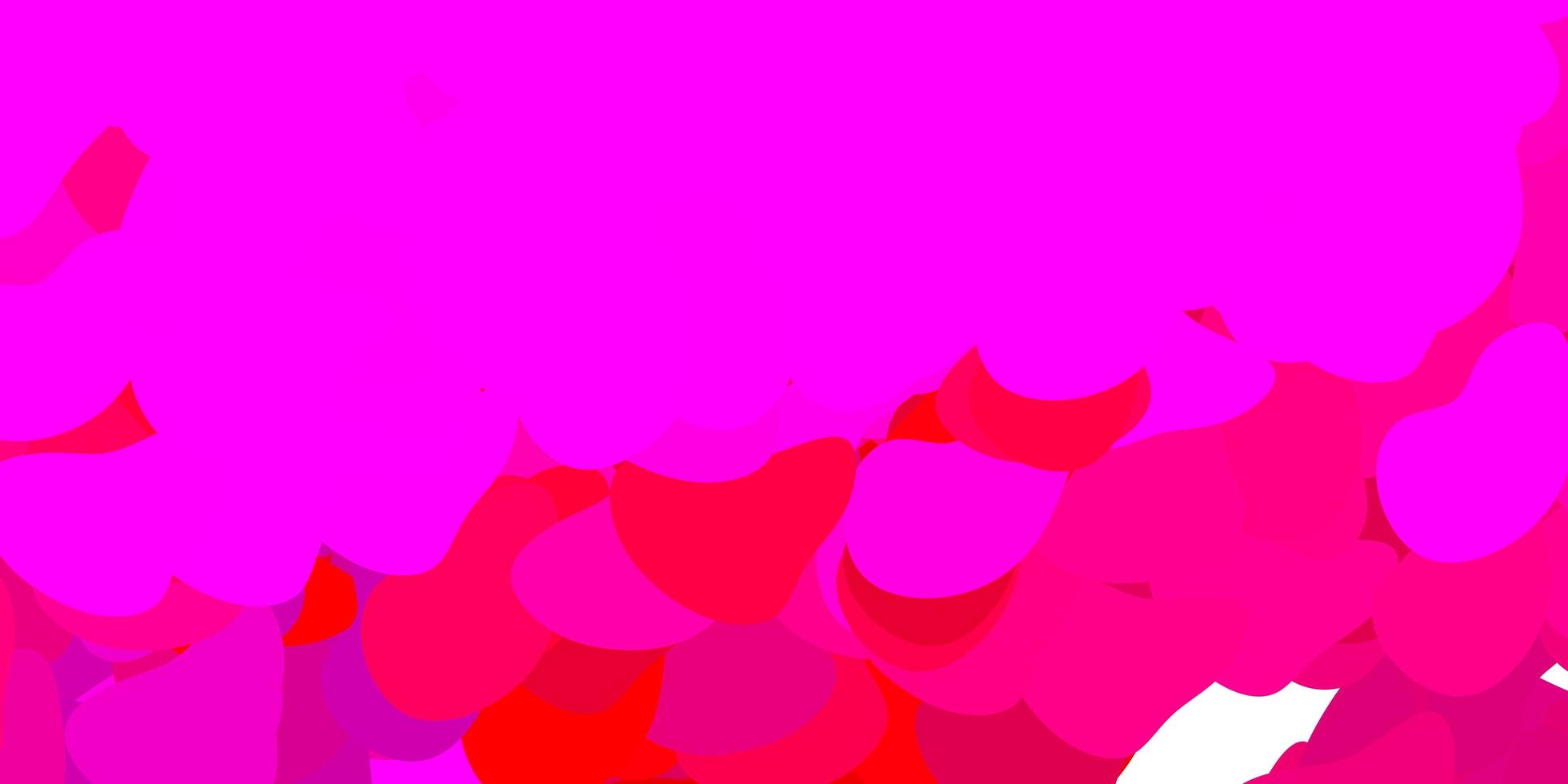 mörkrosa vektorbakgrund med slumpmässiga former. vektor