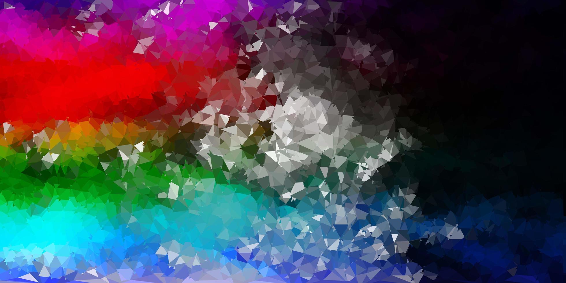 mörk flerfärgad vektor poly triangel layout.