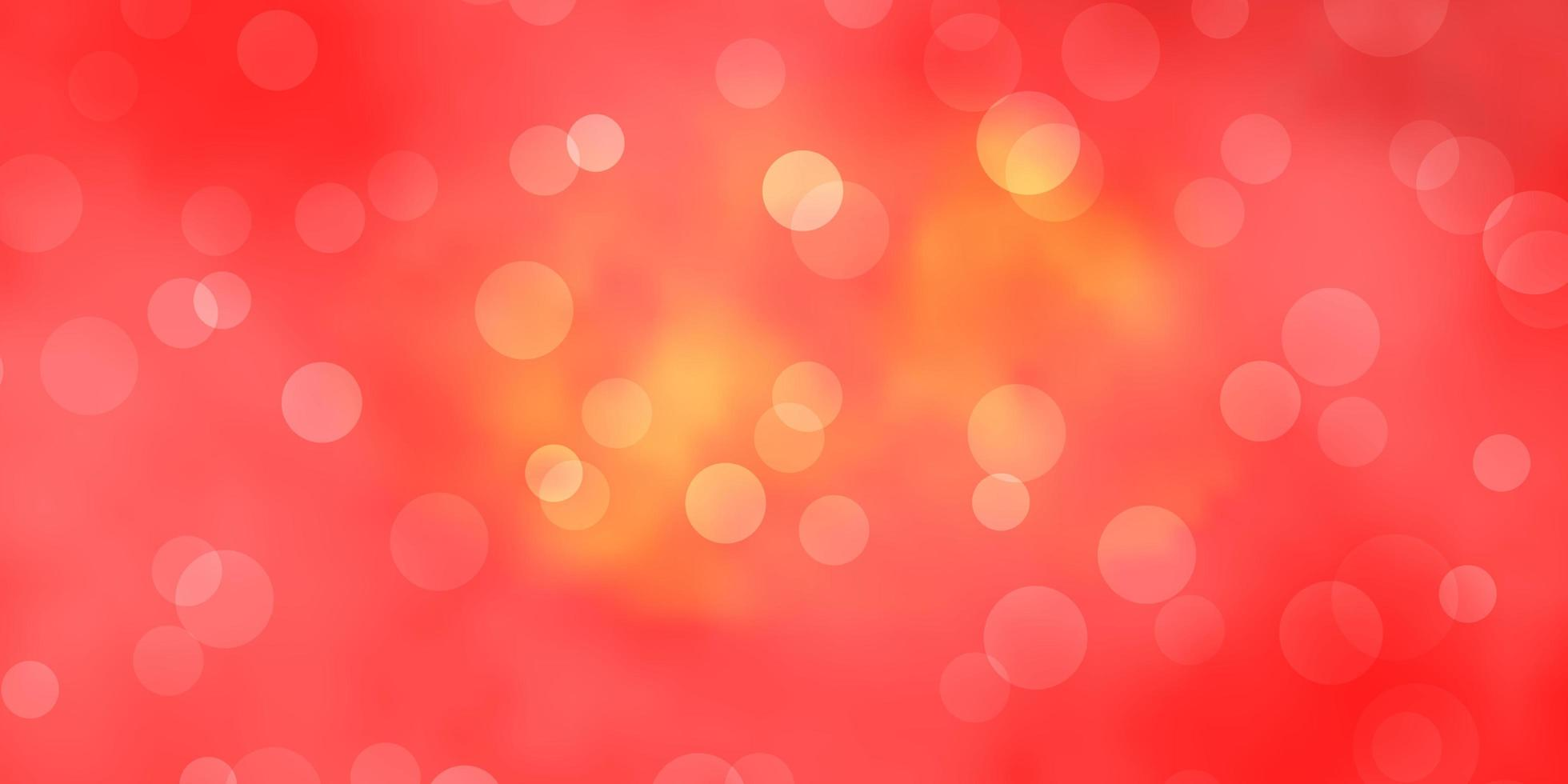 ljus orange vektormall med cirklar. vektor
