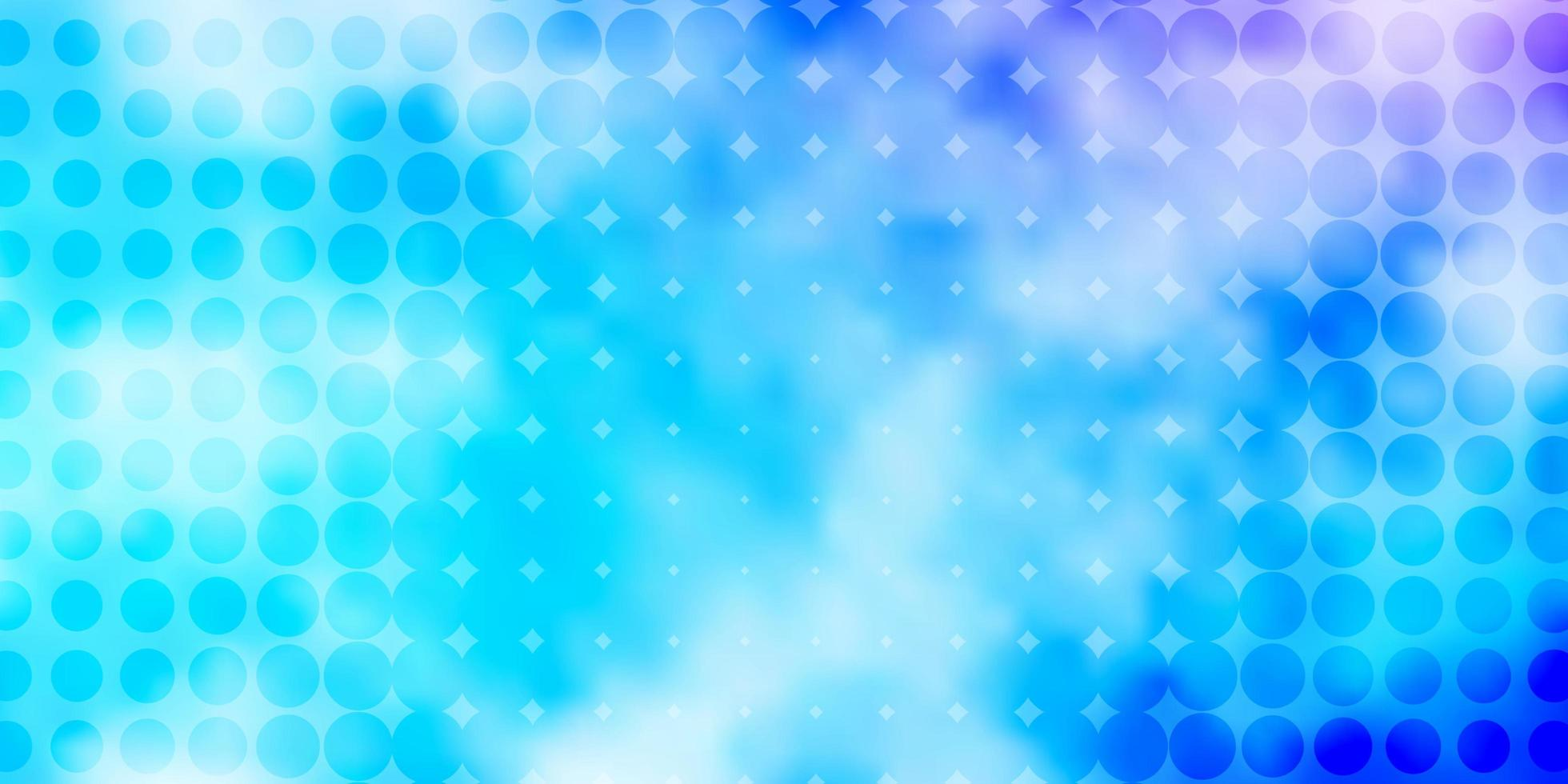 ljusrosa, blå vektormönster med sfärer. vektor