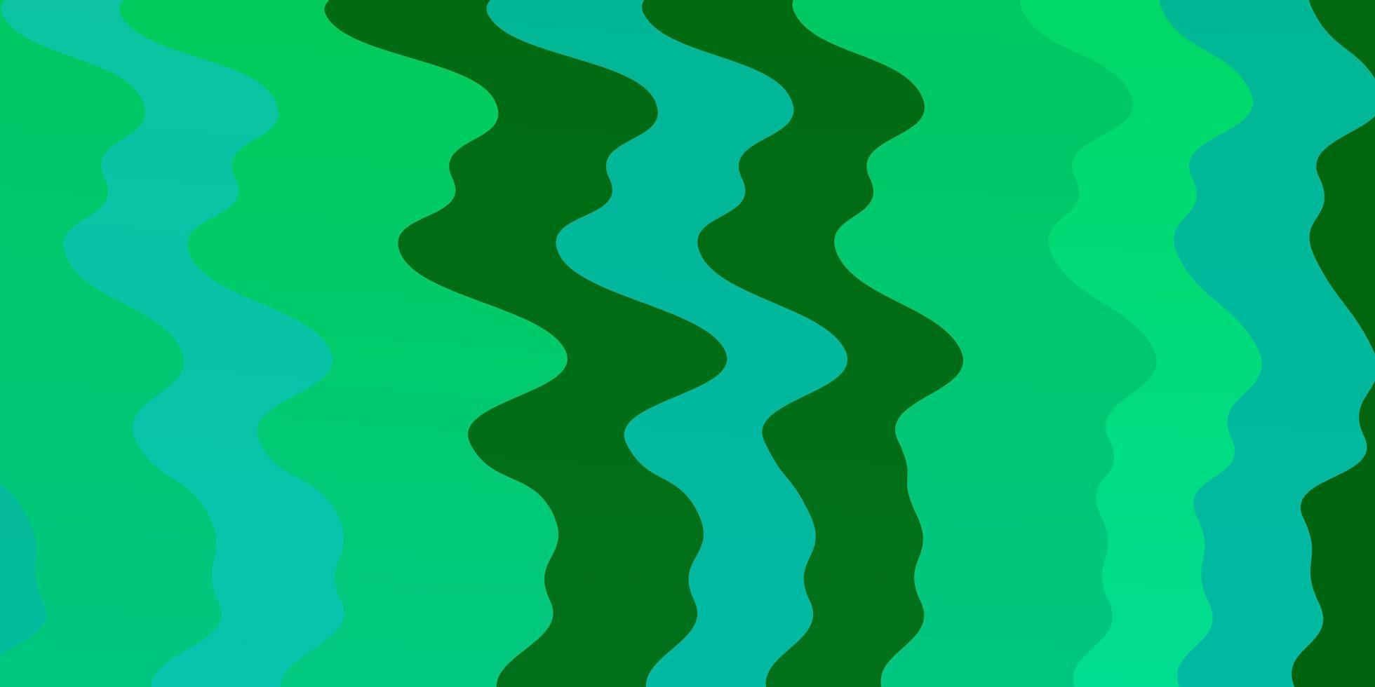 ljusgrön vektorbakgrund med kurvor. vektor
