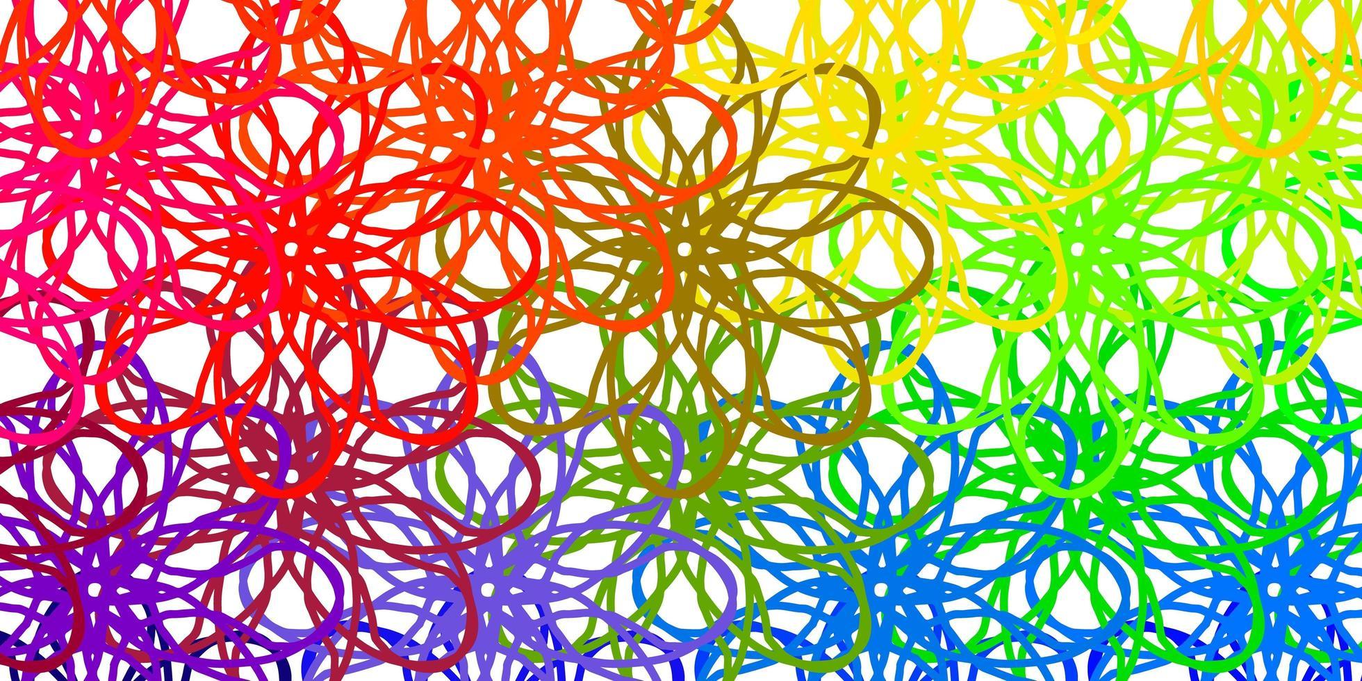 leichte mehrfarbige Vektorschablone mit gekrümmten Linien. vektor