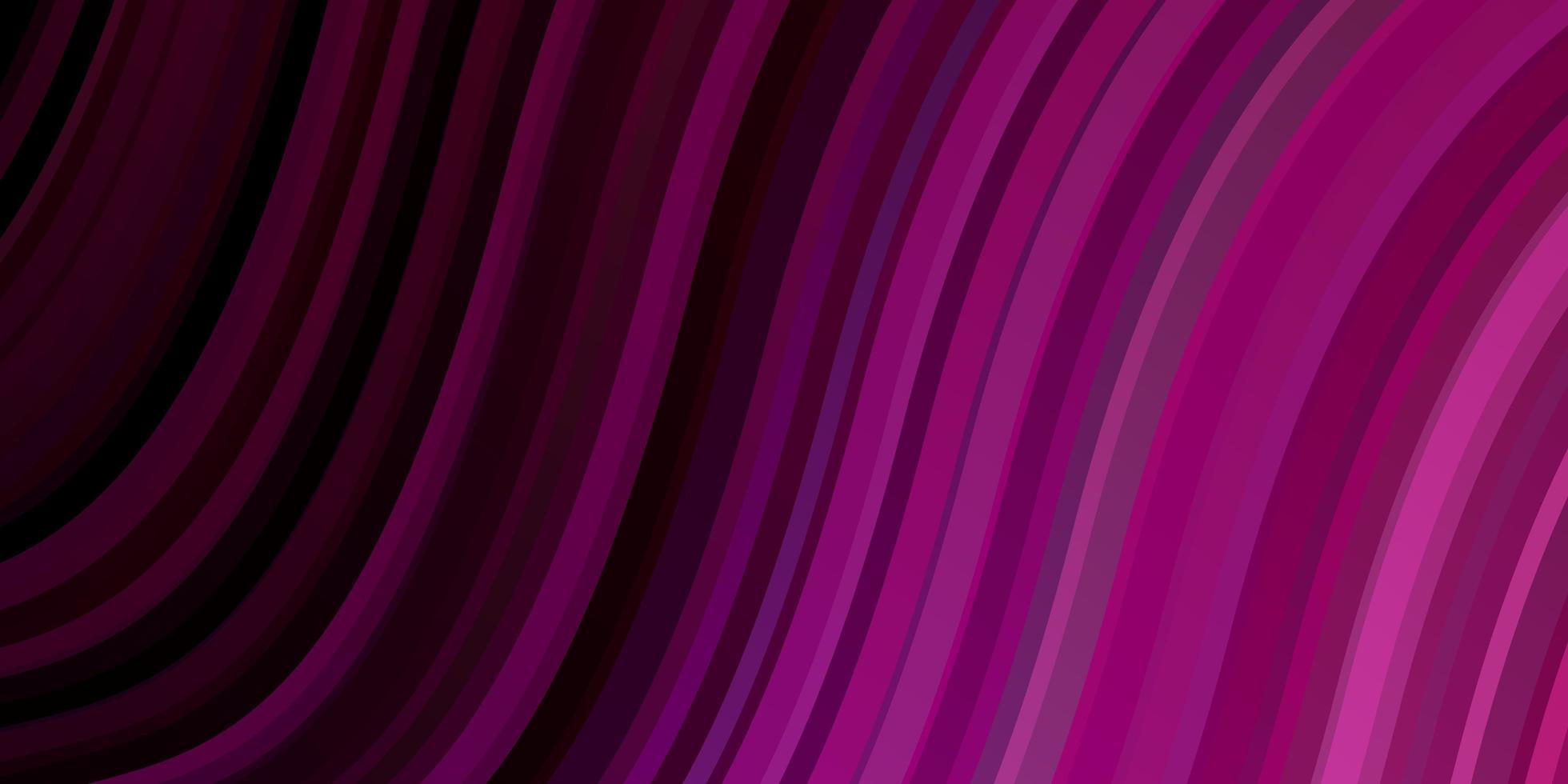 dunkelvioletter, rosa Vektorhintergrund mit trockenen Linien. vektor