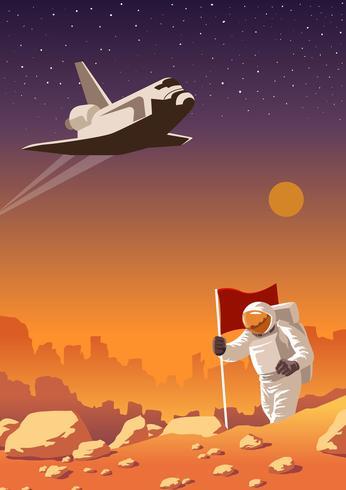 Mars Erkundungsreise vektor