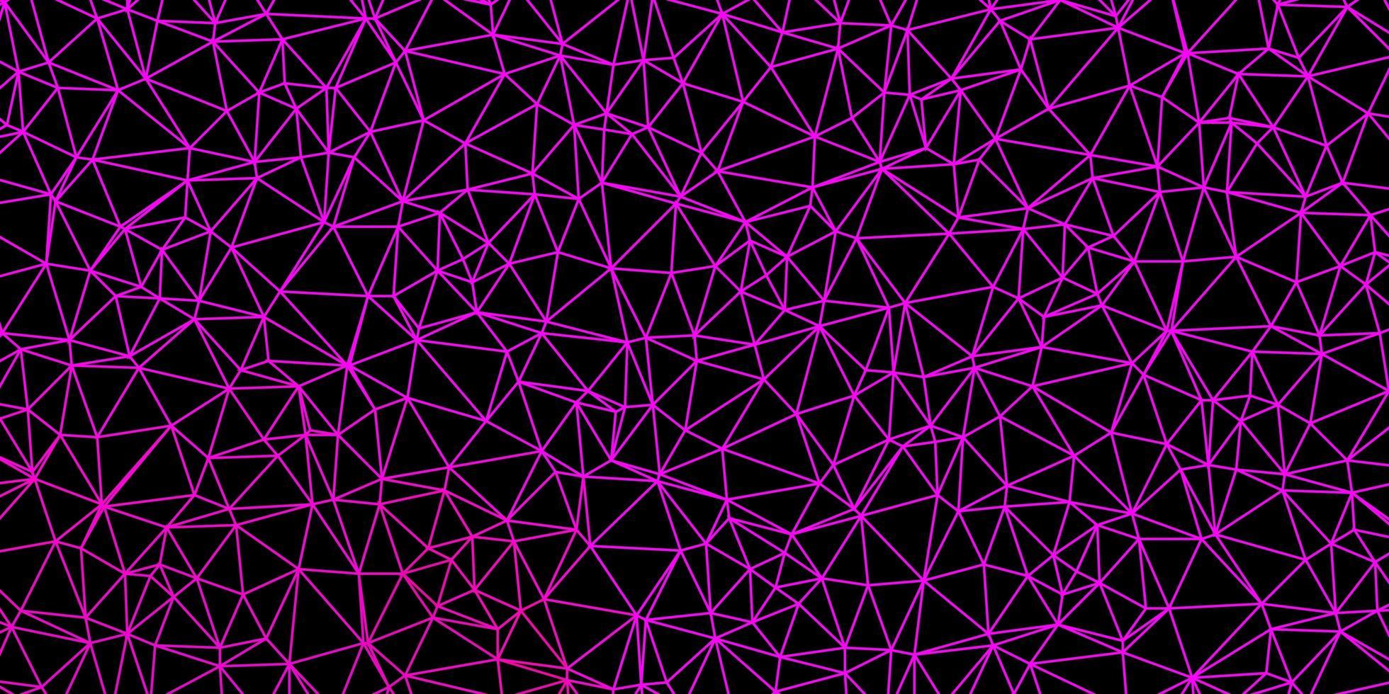 ljusrosa vektor poly triangel layout.