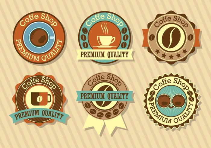 Kaffeeladen-Logo-Set vektor