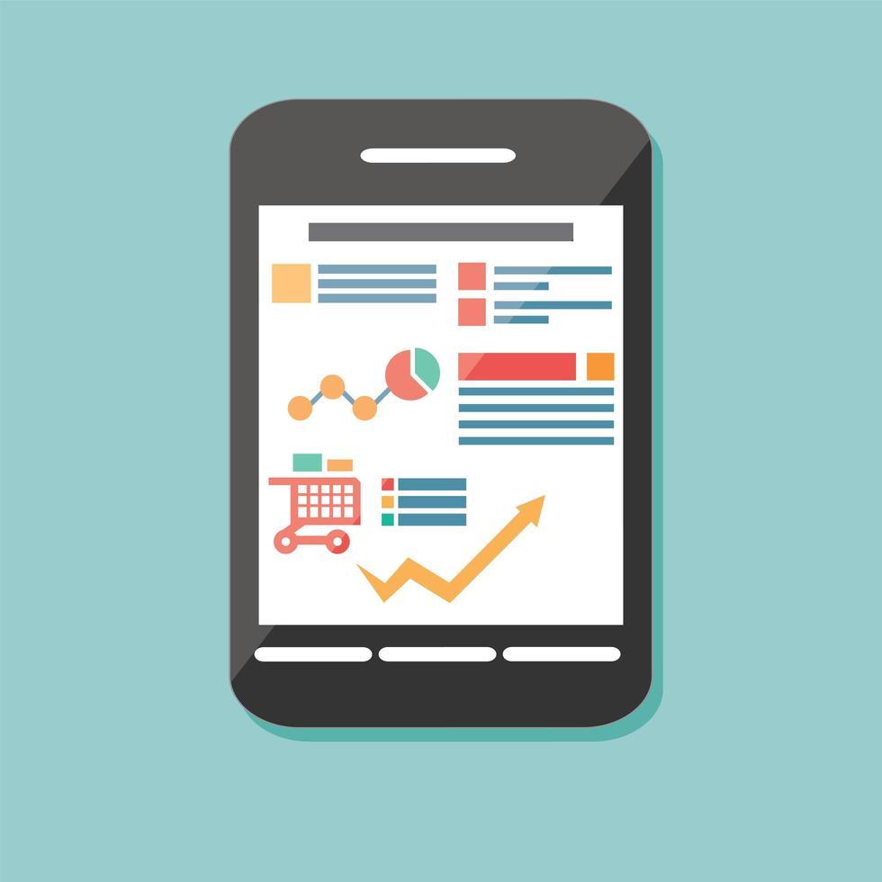 flaches Symbol mobiles zellulares Smartphone, elektronisches Gerät vektor