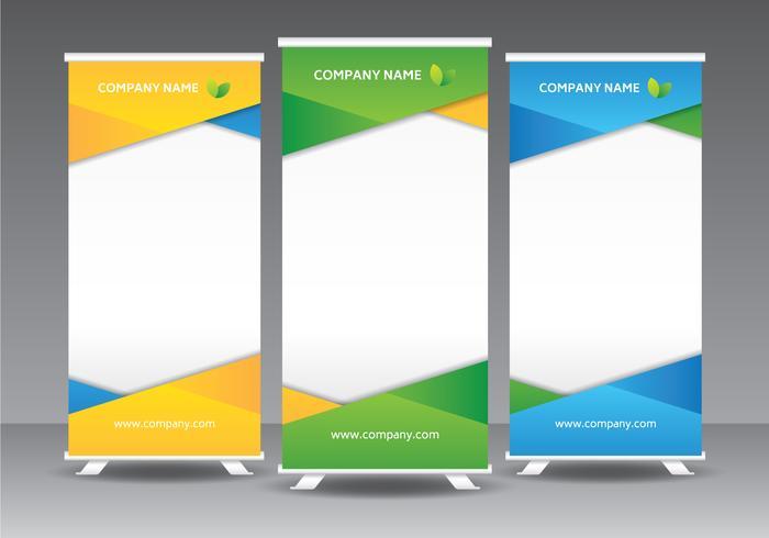 Unternehmen Roll Up Banner Vorlage vektor