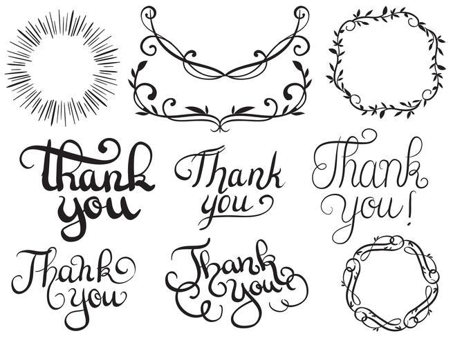 Danke Typografie 2 Vektoren