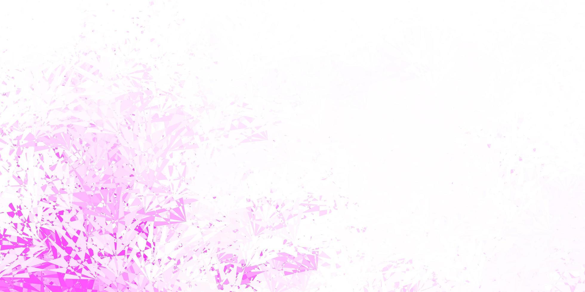 hellrosa Vektorhintergrund mit polygonalen Formen. vektor