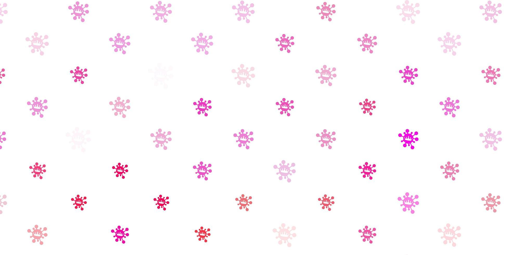 hellrosa Vektorbeschaffenheit mit Krankheitssymbolen vektor