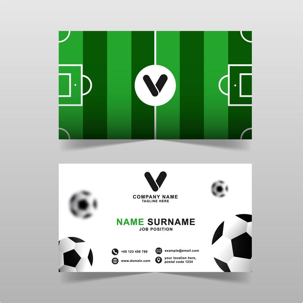 modern visitkortsvektormall med fotbollskoncept vektor