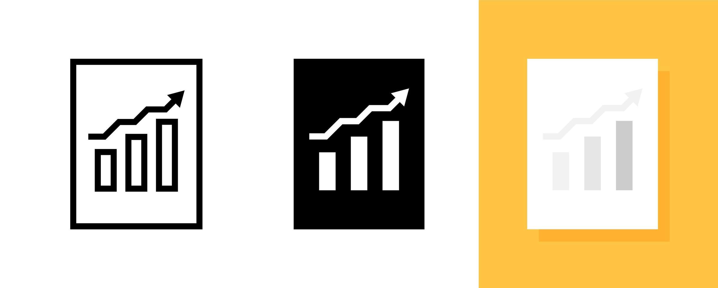 affärsinformation eller data med symbol ikonuppsättning vektor