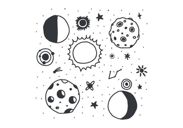 Svart & Vit Eclipse vektor