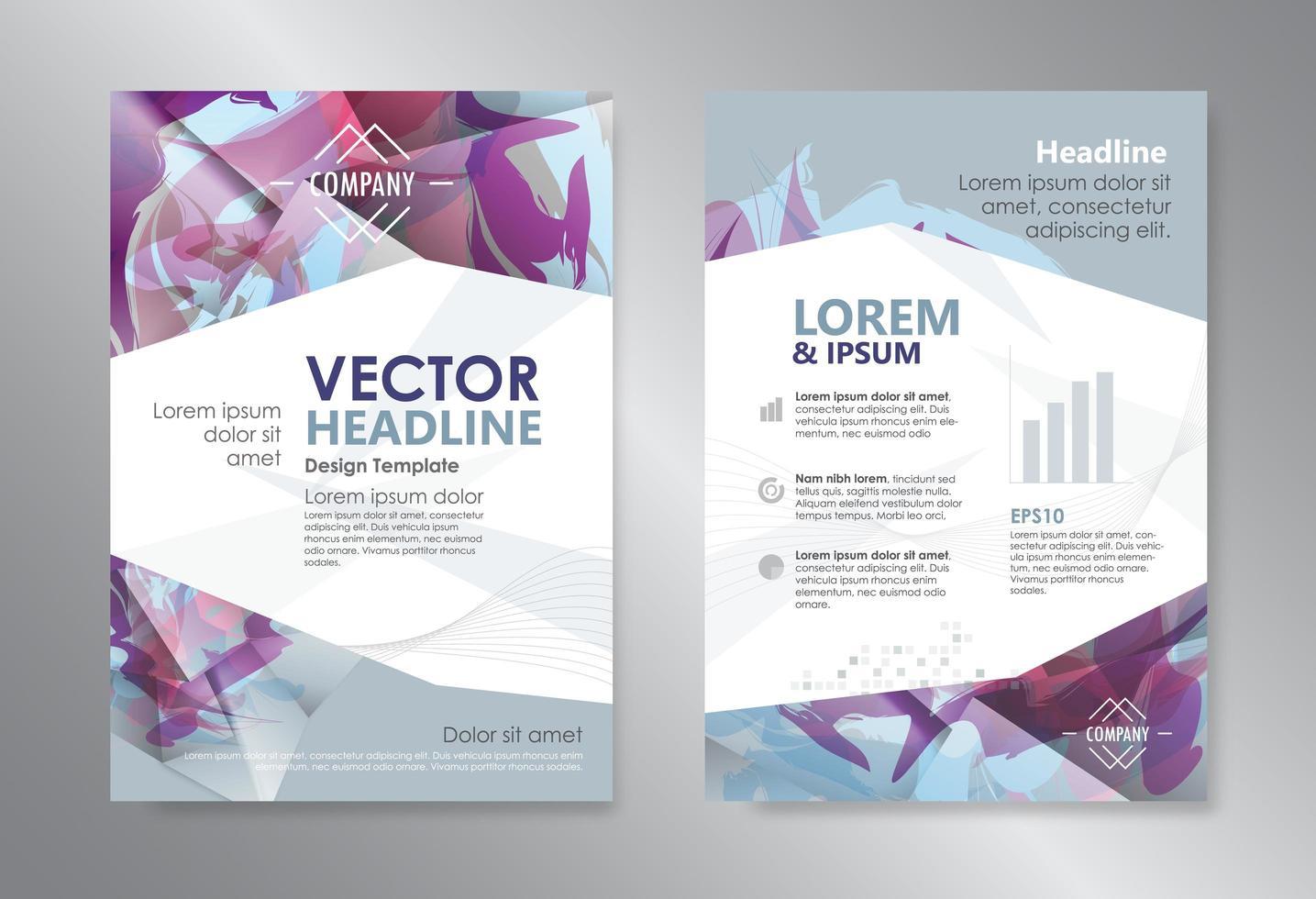 mall polygon abstrakt designtidskrift vektor